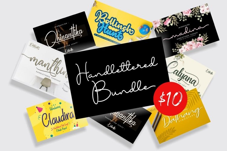 Handlettered Bundle Top Sales