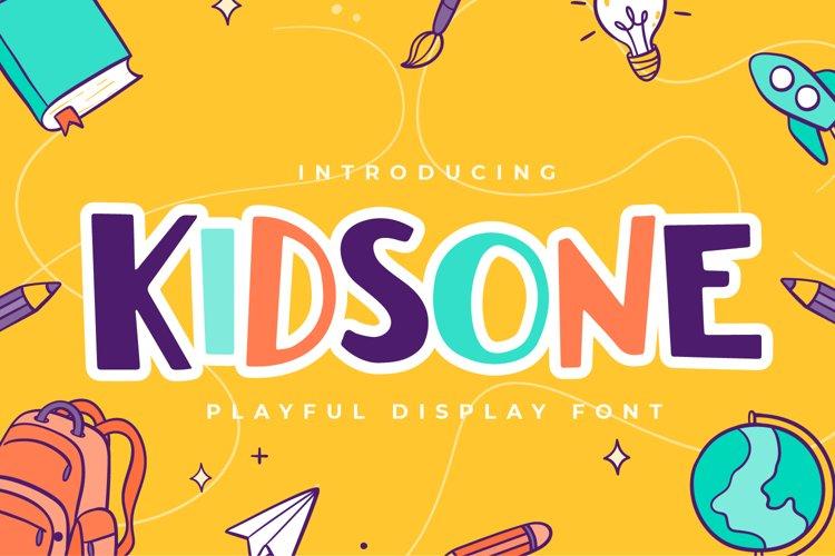 Kidsone -Playful Display Font example image 1