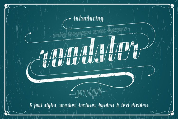 ROADSTER typeface