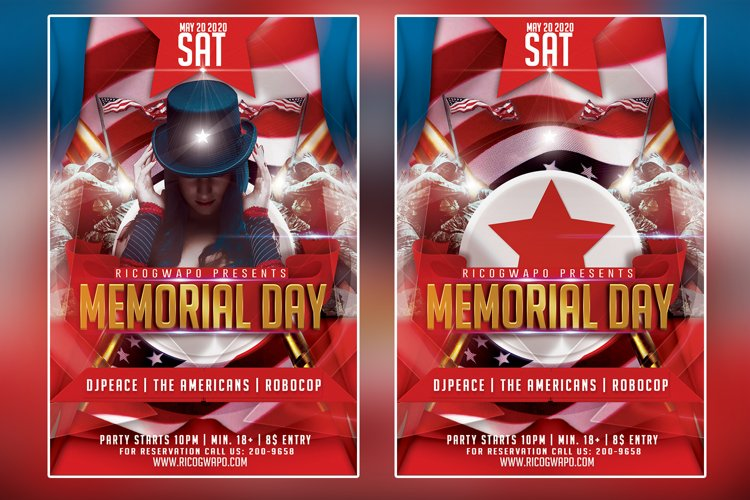 Memorial Day Flyer Template example image 1