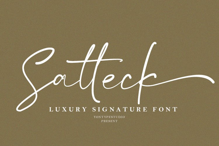 Satteck A Luxury Calligraphy Signature Font example image 1