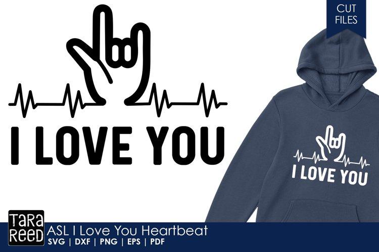 ASL I Love You Heartbeat - Sign Language SVG & Cut Files