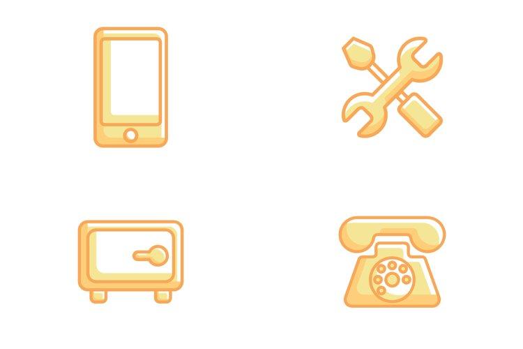 Gold Line 0.6 Bundle Business Icon