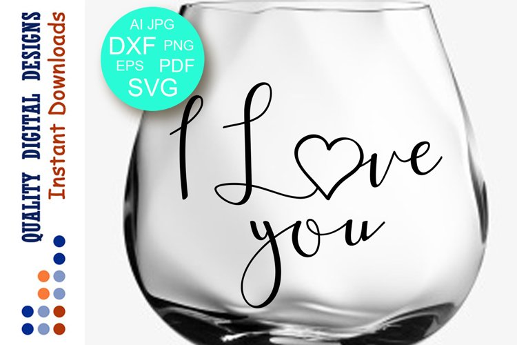I love you sign svg files Valentines day