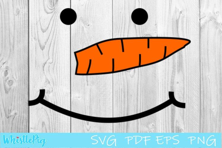 Snowman Face Svg Snowman SVG PDF EPS PNG