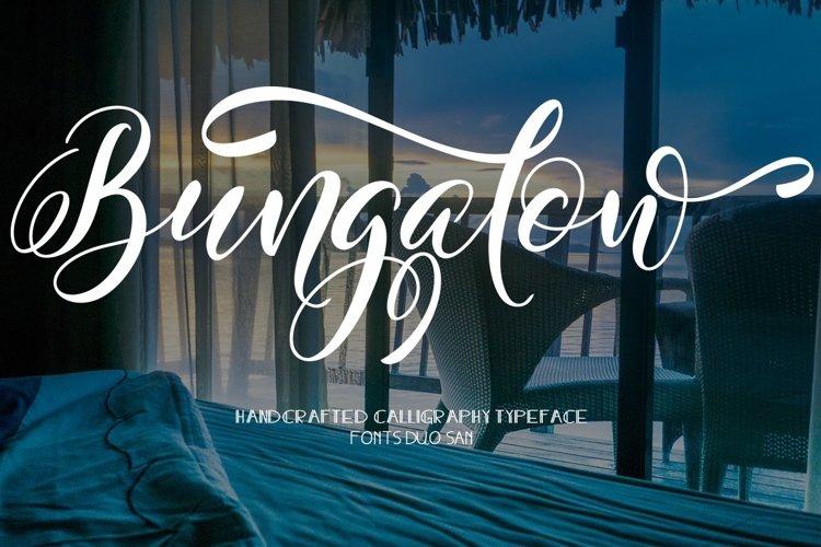 Web Font Bungalow example image 1