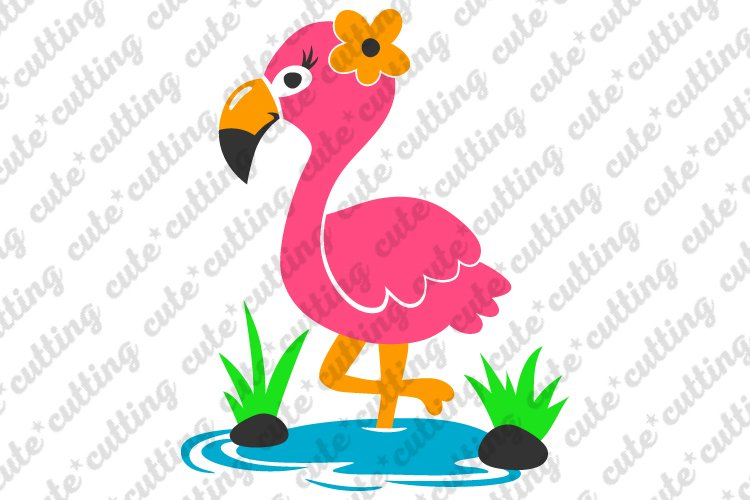 Flamingo, Pink Flamingo, svg, dxf, pdf, jpeg example image 1