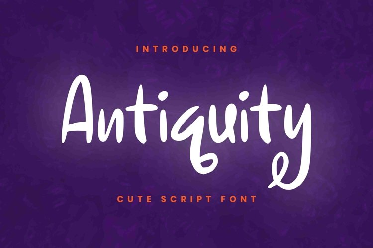 Antiquity Font example image 1