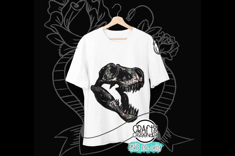 Sublimation design - T-rex Dinosaurs - Floral pattern design