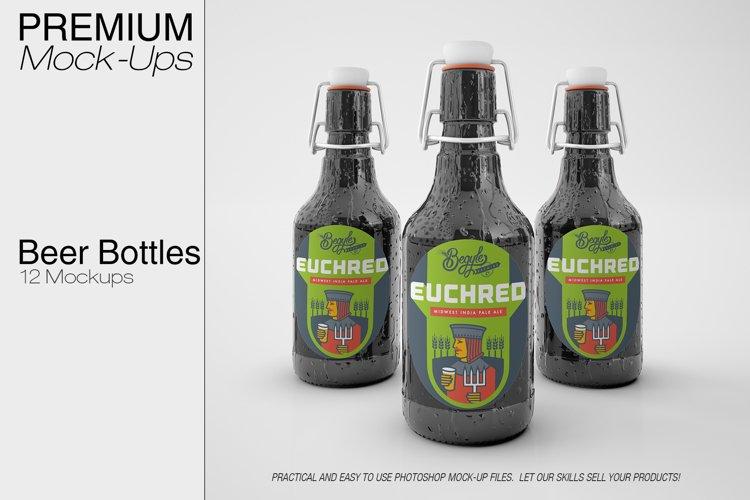 Beer Bottle Mockup Pack example image 1