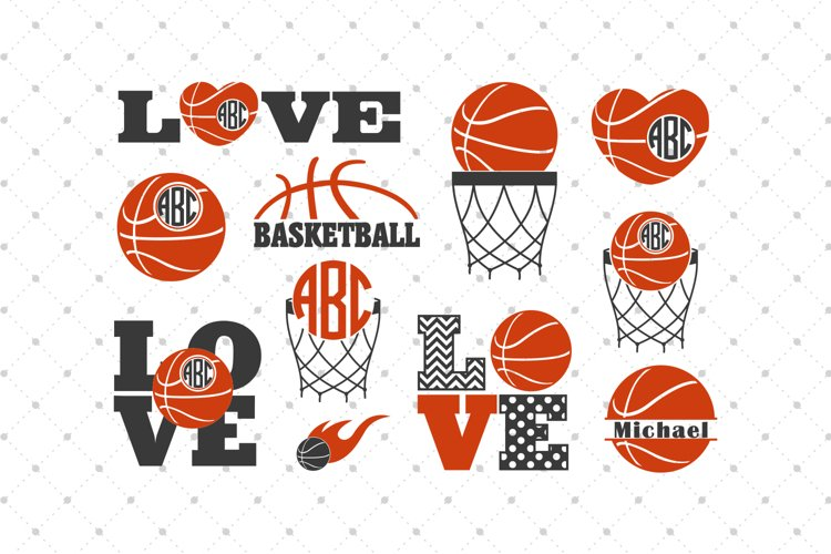 Basketball SVG Cut Files example image 1
