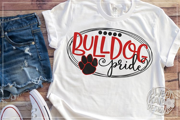 Bulldog Pride SVG DXF EPS PNG JPG