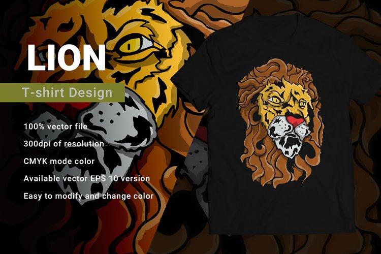 Lion   T-Shirt Design example image 1