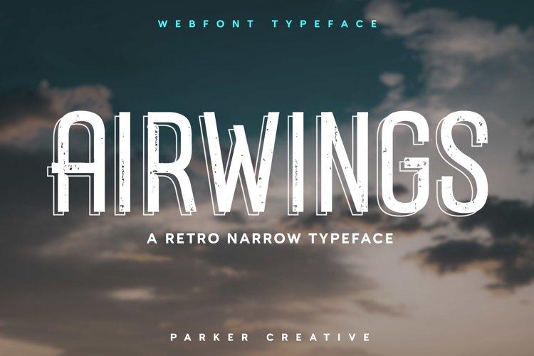 Airwings - Retro Narrow Sans-Serif Webfont example image 1