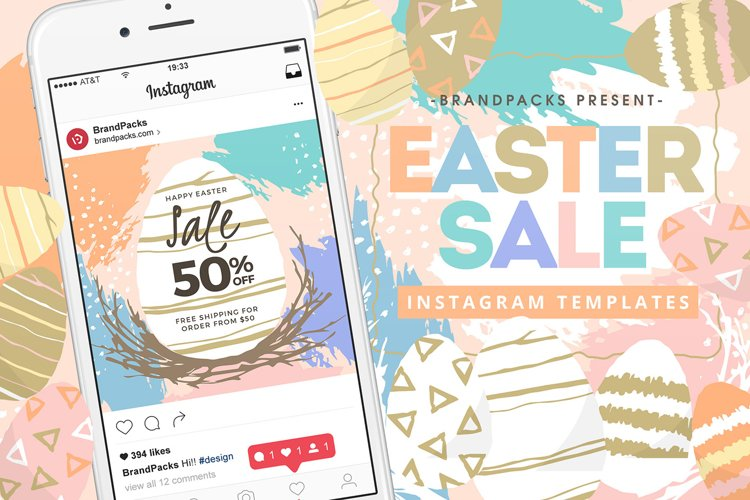 Easter Instagram Templates example image 1
