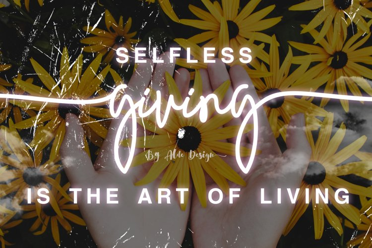 Giving - Script Font example image 1