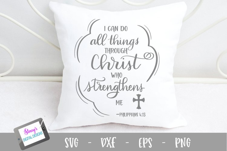 I can do all things through Christ SVG - Christian SVG example image 1