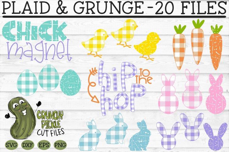 Plaid & Grunge Easter / Spring SVG Cut File Bundle