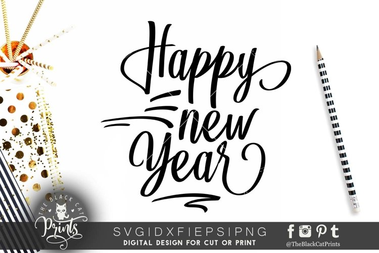 Happy New Year SVG DXF EPS PNG example image 1