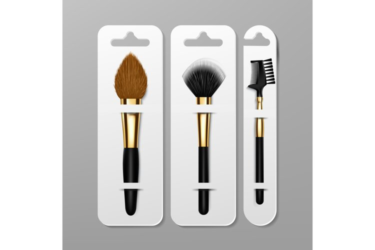 Makeup Brush Packaging Design Vector. Artist Icon. example image 1