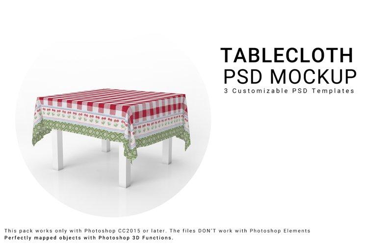 Square Tablecloth Mockup Set example image 1