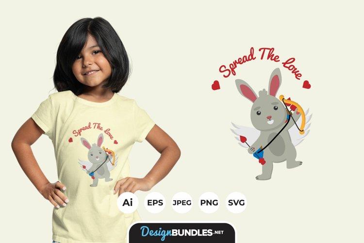 Rabbit Cupid Illustrations for T-Shirt Design example image 1