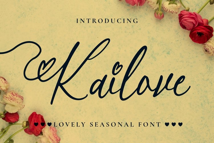 Web Font Kailove Font example image 1