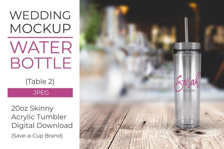 Acrylic water bottle mockup - Table 2