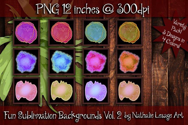 Fun Sublimation Backgrounds Vol 2 Colorful Backsplash Images