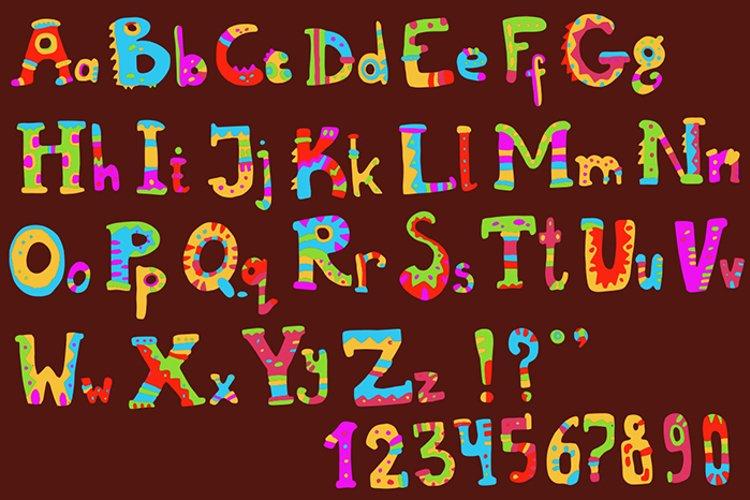 Ethnic brush painted vector alphabet example image 1