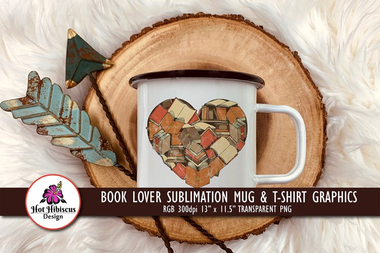 Book Lover Sublimation T-shirt Design | Librarian Graphics