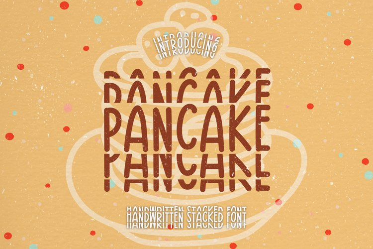 Pancake - A Groovy Handwritten Stacked Font example image 1