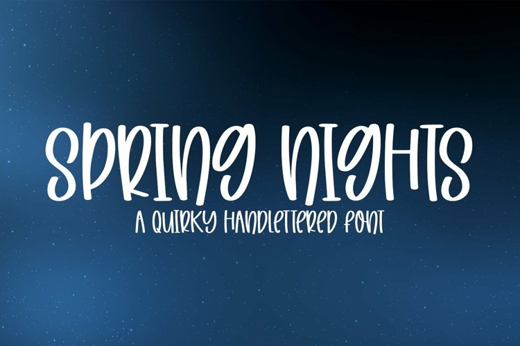 Web Font Spring Nights - A Quirky Handlettered Font example image 1