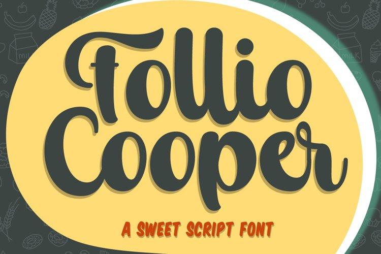 Follio Cooper - Bold Script Font example image 1