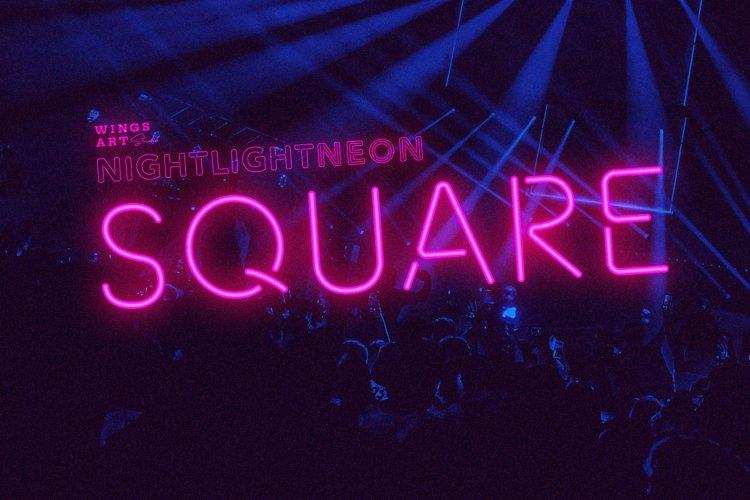 Night Light Neon Font - square example image 1