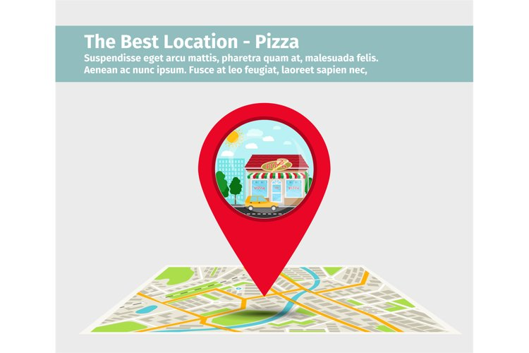 Best pizza point on map example image 1