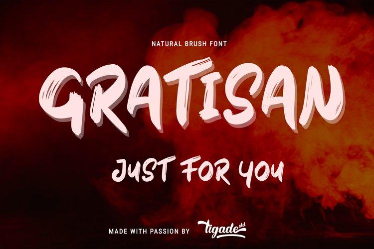 Gratisan - Best Minimal Brush Font