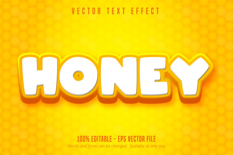 Honey text, cartoon style editable text effect example image 1