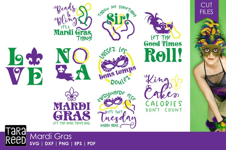 Mardi Gras SVG   Cut Files for Crafters