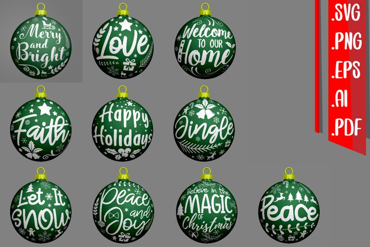 Christmas Text Rounded Svg Eps Png Ai - Version.1 example image 1