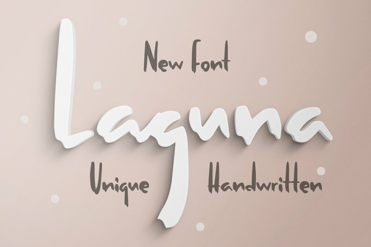 Web Font Laguna - Unique Handwritten Font example image 1