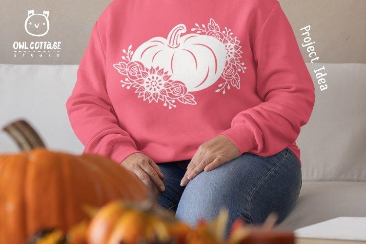 Floral Pumpkin svg, Halloween Floral Decor, Fall svg example 2