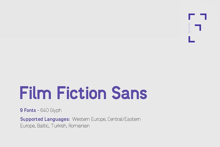 Film Fictions Sans Typeface example image 1