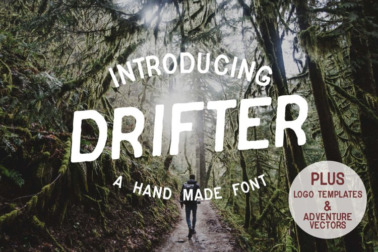 Drifter Font & Buildable Logo-Kit