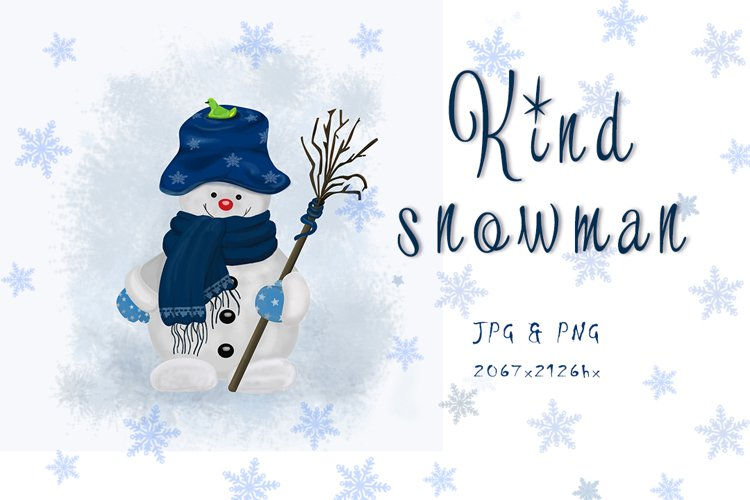 Kind snowman example image 1