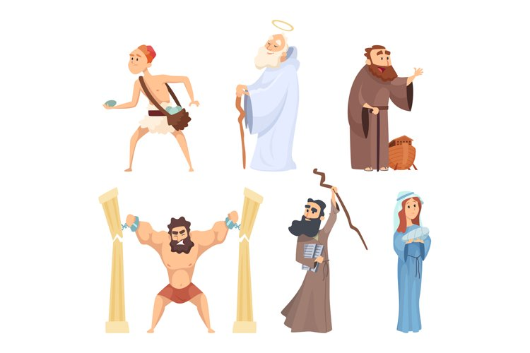 Historical illustrations of christian characters of holy bib
