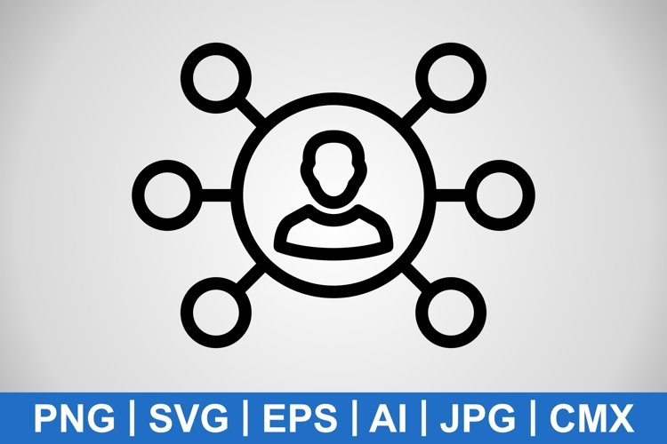 Vector Sharing Icon example image 1