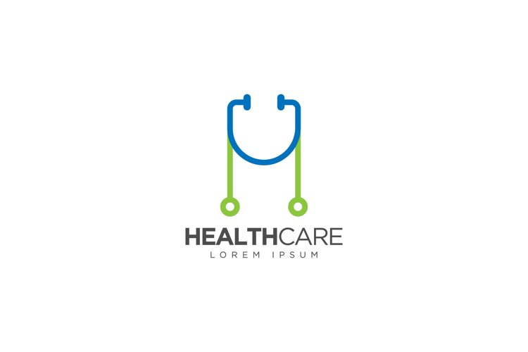 Initial H Health Care Logo example image 1