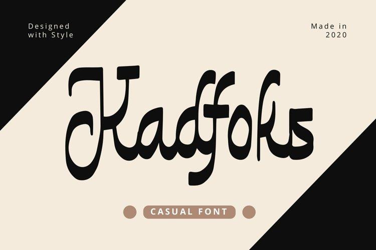 Web Font Kadfoks - Casual Fonts