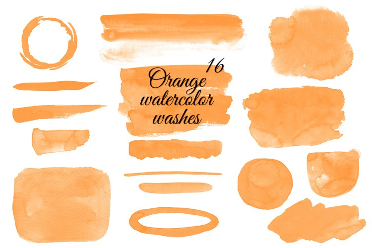 Orange watercolor washes clipart Orange Stains clipart example image 1